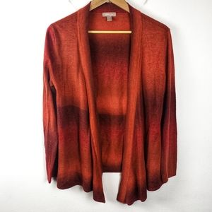 White Stag | Orange Rust Cardigan Sweater Small